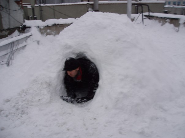 Chillin' in an igloo.
